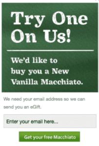 Free Starbucks Vanilla Macchiato