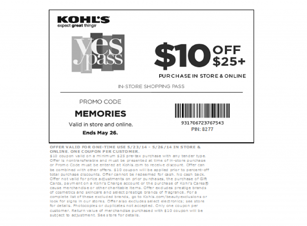 Kohls coupon promo code