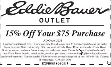 Eddie bauer coupon code
