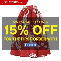 Save 15% Off 1st Order for Facebook Users at JollyChic.comSave 15% Off 1st Order for Facebook Users at JollyChic.com