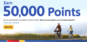 Free 50,000 Southwest Rapid Rewards Points Deal