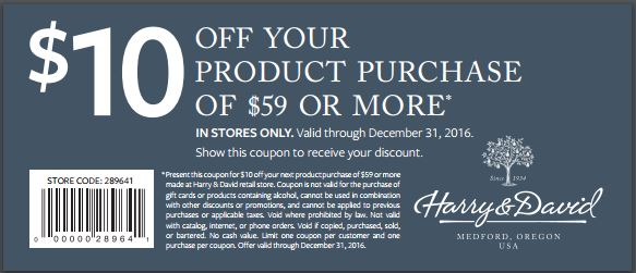 Harry and David Coupon - $10 off $59 in store