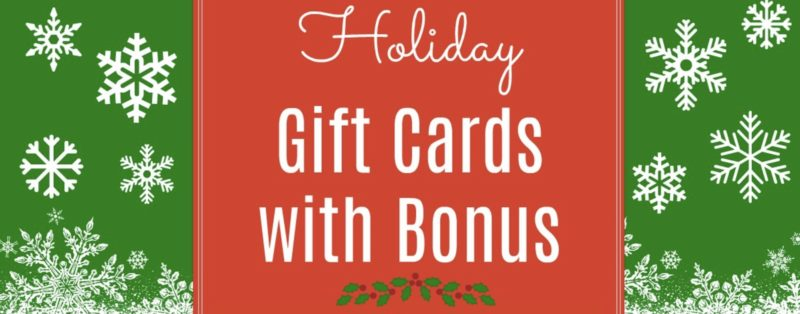Best Gift Card Bonuses & Coupons for the Holidays 2017