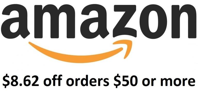 Amazon: $8.62 Off Coupon for Orders of $50 Today Only!