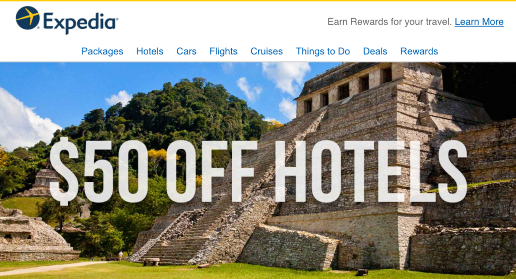 $50 Off Expedia Coupon for Hotels on Cinco De Mayo